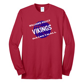 Williams Valley Elementary Basketball long sleeve